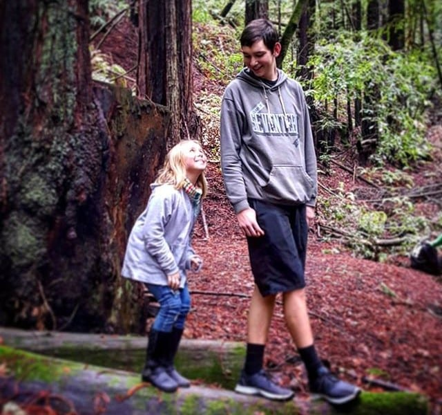 Bella and Riley in the redwoods. #latergram